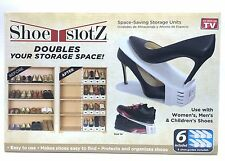 Shoe Slotz Space Saver 6 piece set New As Seen on TV