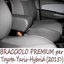 Bracciolo Premium per TOYOTA YARIS - HYBRID (dal 2015) NERO colore-MADE IN ITALY