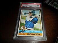 1976 Topps Card #306 ATLANTA Braves Rod Gilbreath PSA 9 MINT