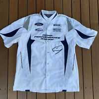 Ford Performance Racing White Shirt Castrol Official Team Merchandise Size XL