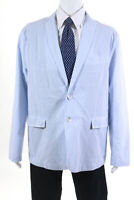 Les Canebiers  Mens Two Button Blazer White Sky Blue Size Extra Extra Large