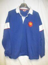 Maillot rugby XV QUINZE de FRANCE shirt vintage FFR 90's coton L