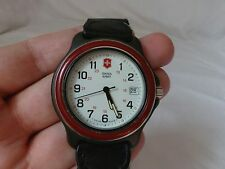 New Battery~Vintage Victorinox Swiss Army Cavalry Mens Military Watch 41MM