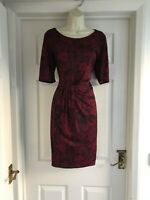 R. Womens Size 14 Laura Ashley Dress LADIES SUMMER SMART WORK FLORAL STRETCH