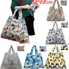 Women Large Heavy Duty Classic Cotton Canvas Shopping Shoulder Bag Shop Tote RF