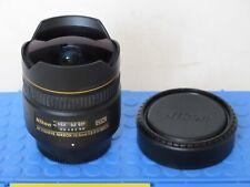 Nikon DX AF fisheye Nikkor 10.5mm f:2.8 G ED lens with caps MINT US SELLER LQQK