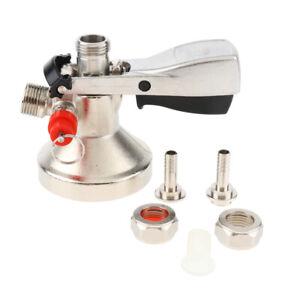 G-System Keg Coupler / Draft Beer Dispenser Beer Faucet Tap Stainless Steel