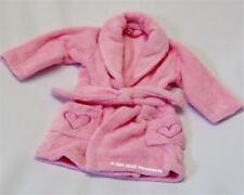 Baby Mädchen Mikrofaser Bademantel mit Gürtel 1-2 Jahre rosa mit Herz