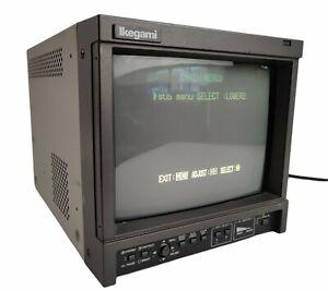 "Ikegami TM9-3 9"" SDTV Field Rack 300 Lines NTSC/PAL Retro Gaming CRT Monitor"