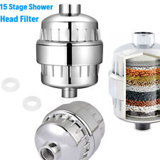 15 Stage Shower Water Filter Purifier with Cartridges For Hard Water Softening