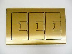 NEW CARLON E9763BR Rectangular Floor Box Cover 3-Gang Brass Free Shipping