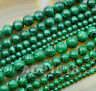 "Natural Malachite Gemstone Round Spacer Loose Beads 16"" 4mm 6mm 8mm 10mm 12mm"