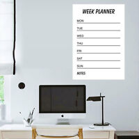 0E76 PVC Wall Stickers Writing Board Home Decor Creative Whiteboard