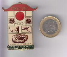 RARE PINS PIN'S .. OLYMPIQUE OLYMPIC JAPON TOKYO 1964 CENTENNIAL 1996 BIG 3D ~18