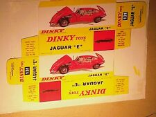 REPLIQUE BOITE JAGUAR E  / DINKY TOYS 1968