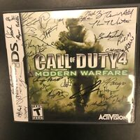 Call of Duty 4 Modern Warfare SIGNED BY THE DEVELOPERS! Nintendo DS Complete CIB