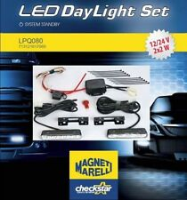 2x LED DRL DAYTIME RUNNING LIGHTS DAYLIGHT LAMPS KIT SET IN FRONT BUMPER MAGNETI