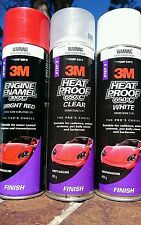 3M HEAT PROOF & ENGINE ENAMEL Spray Paint Cans - Red, Clear, & White- Min 6xcans