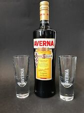 AVERNA AMARO SICILIANO erbe amaro 1l LITRI 29% vol + 2 Averna bicchieri di vetro