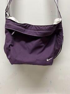 Nike Messenger Shoulder Crossbody Bag Vintage Purple Unisex Pockets Adjustable