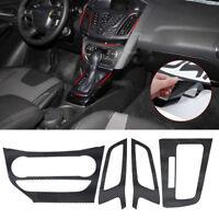 Car Center Control Air Vent Fiber Carbon Sticker Fit For Ford Focus 3 MK3 AT ut