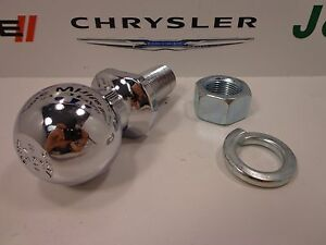 "00-20 Chrysler Dodge Jeep Ram New Chrome Mopar Hitch Ball 2"" 6000lbs Factory Oem"