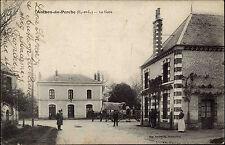 Authon du Perche Frankreich s/w AK  ~1910 gelaufen La Gare Partie am Bahnhof