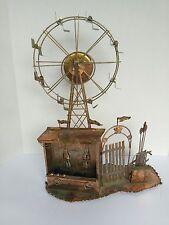 Vintage Metal Art Copper Carnival Ferris Wheel Music Box Working