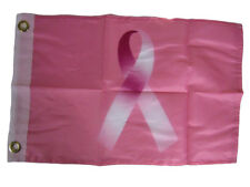 "12x18 12""x18"" Breast Cancer Pink Ribbon Awareness Motorcycle Boat Flag Grommets"