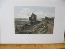 Vintage Print,BRADING HARBER,Stanfields,English Channel,1836