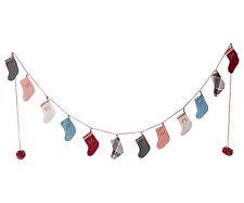 Maileg-noël advent calendar stocking garland dans Drumbox-numérotées chaussettes