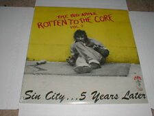 BIG APPLE Rotten To Core LP 1987 NY KBD Metal Punk Comp Ism THE MOB Sealed M-