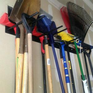 Garden Wall Mounted Tool Hanger Shed Garage Secure Hold Tidy Organizer Rack Hang