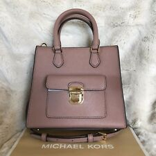 NWT MICHAEL KORS SAFFIANO LEATHER BRIDGETTE SMALL NS MESSENGER BAG IN DUSTY ROSE
