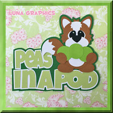 PEAS IN A POD TITLE  Paper Piecing card toppers and scrapbooking