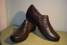 NEW Women's Size 6 Clarks Everlay Coda Brown Leather Sturdy Comfy Shoes $84.99