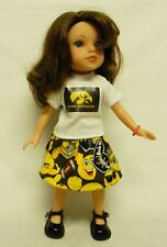 "Iowa Hawkeyes ""Herky"" Emoji Outfit (2) For 14.5 Inch Doll"