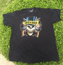 Guns And Roses Skull T-shirt Men's Size X Large Black Bravado Brand