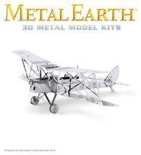 Fascinations Metal Earth DH82 De Havilland Tiger Moth Plane Laser Cut 3D Model