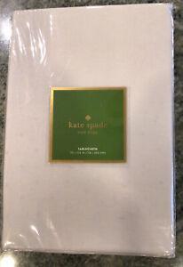 KATE SPADE NEW YORK Larabee Dot Tablecloth -70 X 104 in. GRAY PLATINUM  NIP HTF