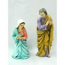 Coppia Madonna-San Giuseppe Landi Moranduzzo Cm 13 - Sacra Famiglia  Presepe