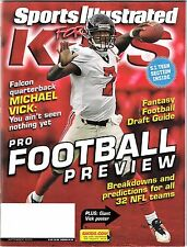 SPORTS ILLUSTRATED FOR KIDS (Sep. 2003) Michael Vick Cover; JAGUN FIGHTERS Cards