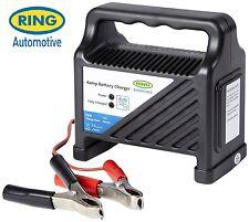 Ring Automotive Essentials 12 Volt 4 Amp Compact Car & Bike Battery Charger RCB4