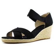 "Women's Textile Wedge Flat (less than 0.5"") Sandals & Beach Shoes"
