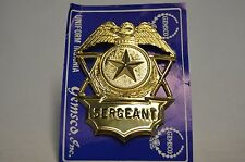 SERGEANT Gold Badge Hat Device with Star Eagle Batons