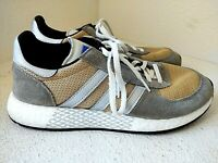 adidas Marathon Tech Grey Gold G27416 3 Stripes Retro Running Shoes US Mens 10