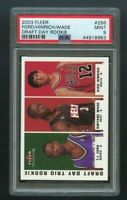 2003-04 Fleer Tradition Draft Day Trio Rookie RC 90/375 PSA 9