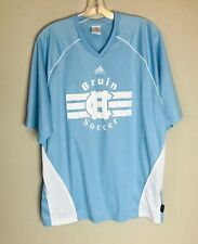 Adidas Bruin Soccer Jersey Men's Size Large Sky Blue And White Free Shipping