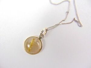 Italian 92.5 Sterling Silver Necklace with A TGGC Sterling silver Stone Pendant