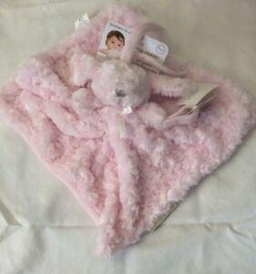 Blankets & Beyond Pink Swirled Plush Puppy Dog Lovey Security Blanket Nunu NWT